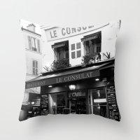 B&W Le Consulat Throw Pillow