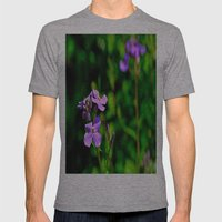 Springing Purple Mens Fitted Tee Athletic Grey SMALL