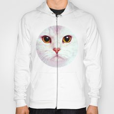 Geometric White Cat Hoody
