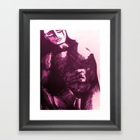 Nude Male Pink Framed Art Print