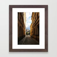 Stockholm Sunset Framed Art Print