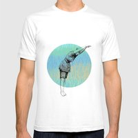 Swimmer ~ The Summer Series Mens Fitted Tee White SMALL