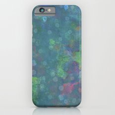 Blue and green abstract painting iPhone 6s Slim Case