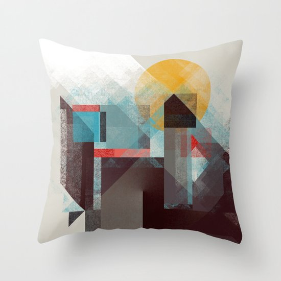 Over mountains Throw Pillow
