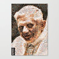BEHIND THE FACE Ratzinger | Homosexuals Canvas Print