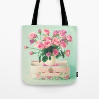 Bouquet in a vase in a lunchbox Tote Bag