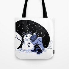 Sad Snow Tote Bag