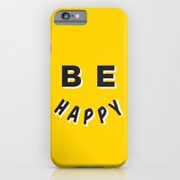 iPhone & iPod Case featuring Be Happy Smiley by Anne Crittenden