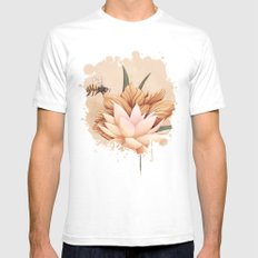 Full bloom | Busy bee Mens Fitted Tee White SMALL