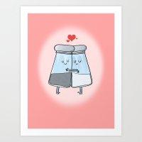 VALENTINE - salt n pepper Art Print