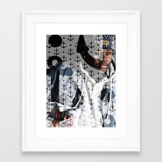 Lski Anchor Framed Art Print