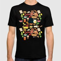 LIFE IS FOOD Mens Fitted Tee Black SMALL