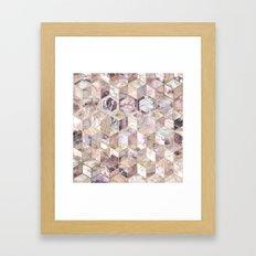 Blush Quartz Honeycomb Framed Art Print