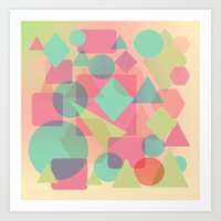 Triangles And Circles Ab… Art Print