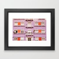 The purple building Framed Art Print