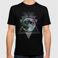 The Moon Mens Fitted Tee Black SMALL