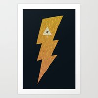 Something with lightning and stuff Art Print