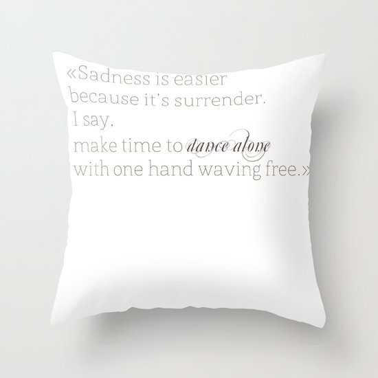 Elizabethtown Quote Throw Pillow