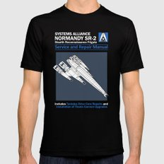 Normandy SR-2 Systems Alliance Service and Repair Manual SMALL Black Mens Fitted Tee