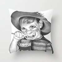 Artless Nonculture (Lowbrow) Throw Pillow