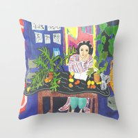 Matisse#1 Throw Pillow