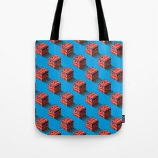 3D pixel city Tote Bag