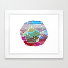 Geometric Birdseye Framed Art Print