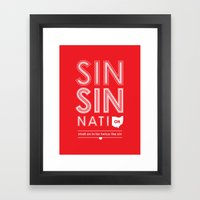 Locals Only — Sinsinna… Framed Art Print