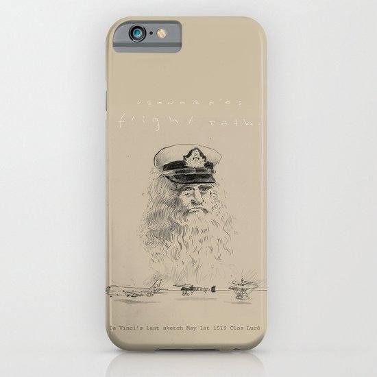 Leonardo's flight path iPhone & iPod Case