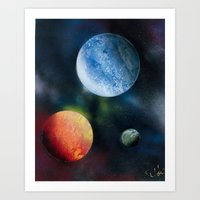 Celestial Triad Art Print