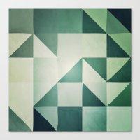 :: geometric maze x :: Canvas Print