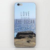 LOVE DEEP  iPhone & iPod Skin
