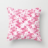 Pink Fantasy Digital Pai… Throw Pillow