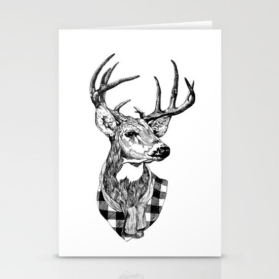 Mr Deer Stationery Card