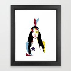 =Juliette Lewis///White= Framed Art Print