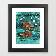 Baby Koi Tangle 2 Framed Art Print
