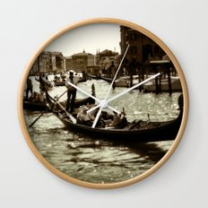 Gondolas on the Grand Canal Wall Clock