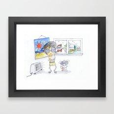 Wishful Thinking or In Denial? Framed Art Print