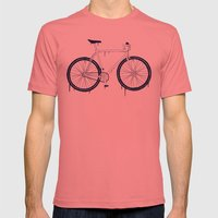 BIKE Mens Fitted Tee Pomegranate SMALL