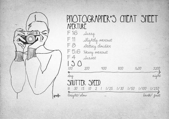Photographer's Cheat Sheet Art Print