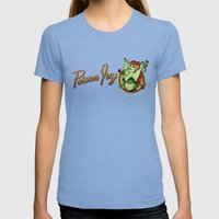 Poison Ivy Bombshell Womens Fitted Tee Tri-Blue SMALL