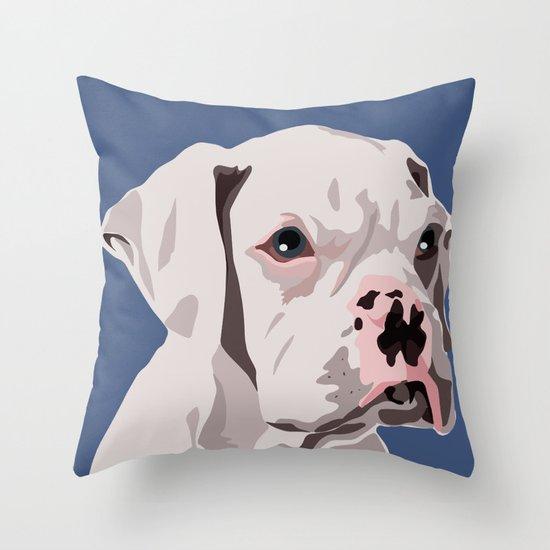 WhiteDog Throw Pillow