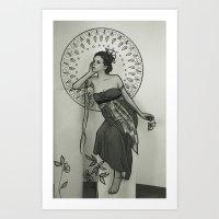 Nouveau love. #2 Art Print