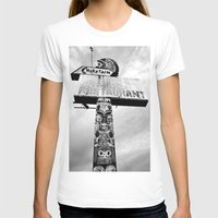 Totem Pole sign Womens Fitted Tee White SMALL