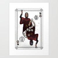 King of Scissors Art Print