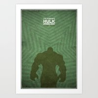 the incredible hulk - minimal poster Art Print