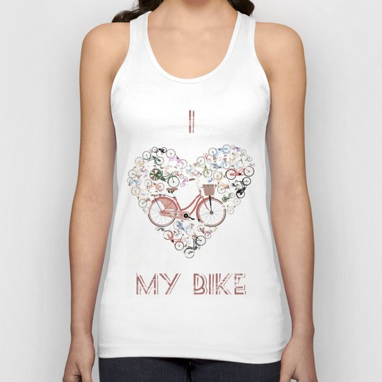 I Love My Bike Unisex Tank Top