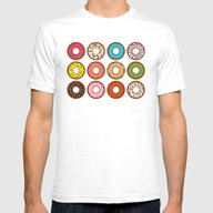 Donuts Mens Fitted Tee White SMALL