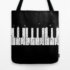 Piano Skyline Tote Bag