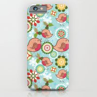 Xmas Robins iPhone 6 Slim Case